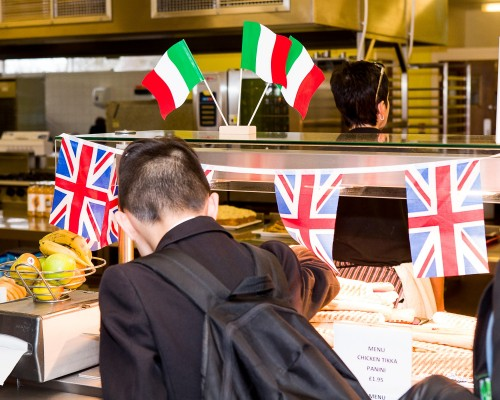 Food Hall Italy vs England Rugby